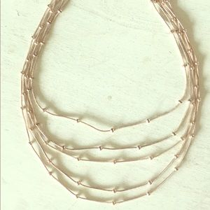 Jewelry - Necklace, light rose gold color. 5 linked chains.